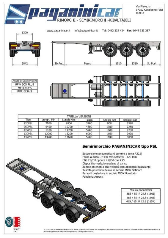 Container Chassis Handle : Eos enviro  iso abrollkipper hakenlift tbs serie