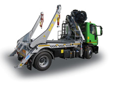 EOS-ENVIRO Telescopic Skip Loader with Truck Crane on 2 Axles Truck